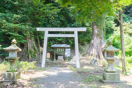frugality: Hakusan Shrine Yohaisho Stock Photo