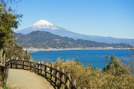 Fuji seen from the Satta pass promenade 写真素材