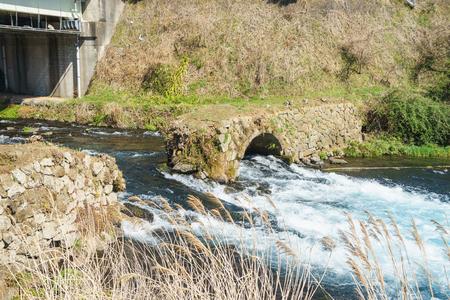 Megane Bridge which became abolished bridge Stock Photo