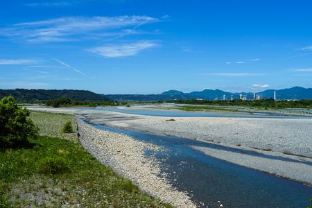 Oi River seen from Horai Bridge Banco de Imagens