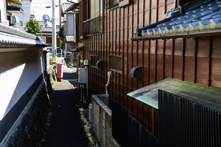 Alley of residential area Stock Photo