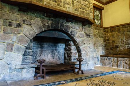 熱海きんくん角洋館の暖炉 写真素材
