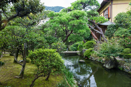 The famous garden of Atami kiunkaku Stock Photo