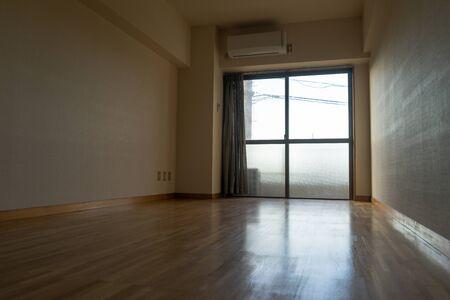 Empty flooring room in apartment