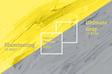 Concept colors of the year 2021 Illuminating and ultimate gray