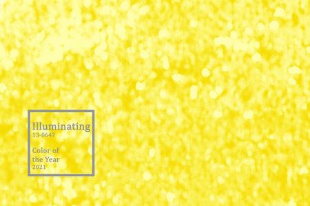 Bokeh trending color of year 2021 illuminating close-up Stock Photo