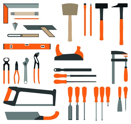 Tool Set Carpenter Vector