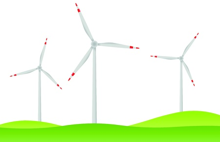 land development: windfarm on green hills