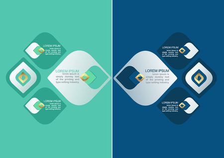 Vector element voor Infographic design of presentatie en grafiek voor vergelijken infomatie