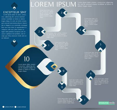 Vector workflow chart element for infographic design ,number,diagram Ep3