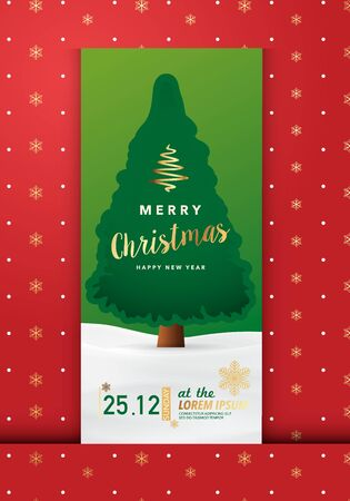 event party festive: Merry Christmas Party Invitation Card, Background, Vector Illustration Design Ep4 Illustration