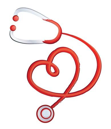 Stethoscope, Heart Month Shaped like a heart