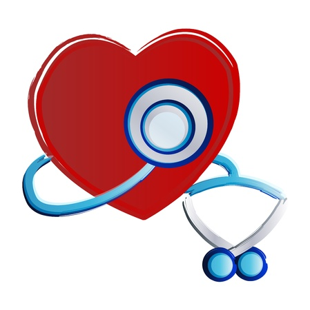 Stethoscope, Heart Month Vector