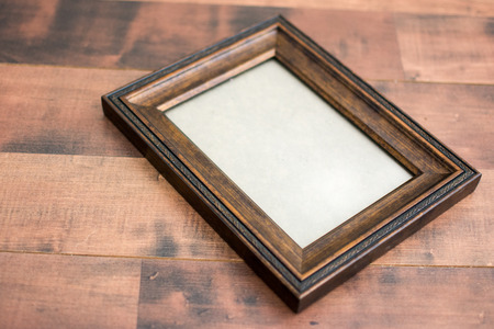 empty frame on the table