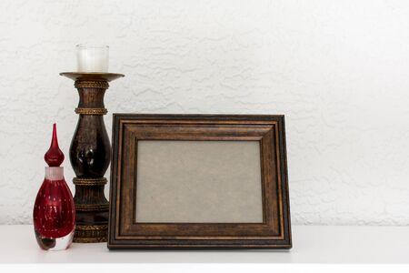 empty frame on the shelf