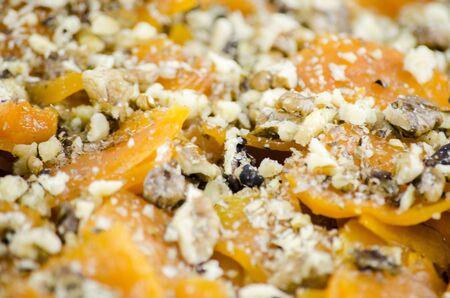 Pumpkin Dessert with Walnuts Stock Photo - 16913923
