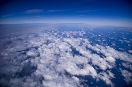 bounded: Earth from a plane