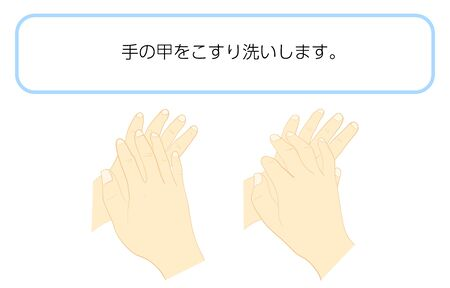 How to wash your hands correctlyTraslation:Scrub the back of the hand.