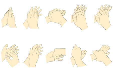 How to wash your hands correctly  イラスト・ベクター素材