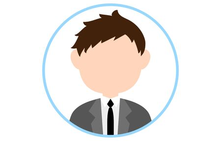 Faceless person icon with blue frame Vecteurs