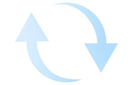 Exchange image icon, light blue