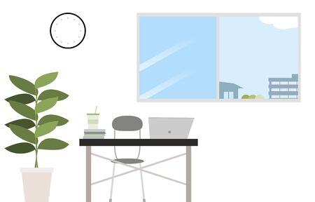 Illustration of a room with ventilation