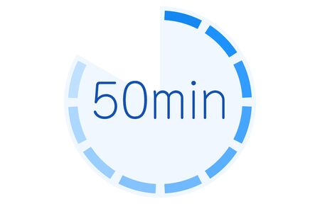 Estimated time required icon vector illustration Vetores