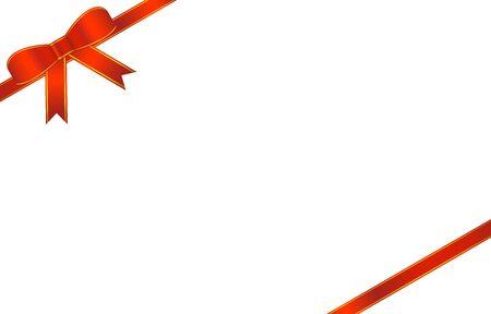 Illustration of red ribbon ornament Vector Illustration