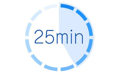 Estimated time required icon illustration