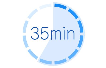 Estimated time required icon vector illustration