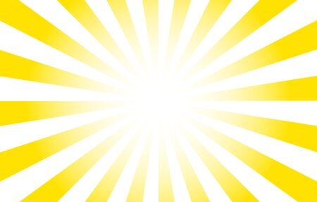 Background material: Yellow gradation illustration with concentrated lines