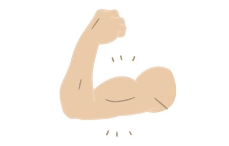 Body parts material: male, upper arm, bicep