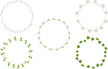 Hand painted decorative borders, plants
