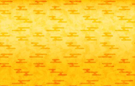 Gold Japanese paper and Japanese pattern: haze shape
