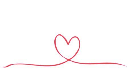 Line illustration of pink heart