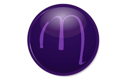 Purple 12 constellation icon : Scorpio