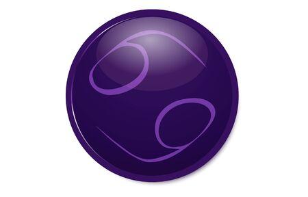 Purple 12 constellation icon : Cancer