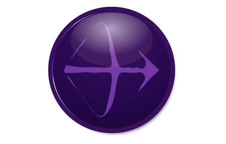 Purple 12 constellation icon: Sagittarius  イラスト・ベクター素材