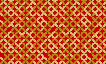Golden and red Japanese pattern torn cloisonne