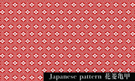 Japanese patternTranslation: Tortoiseshell and Diamond Flower