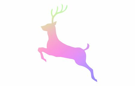 Running stag icon, silhouette material