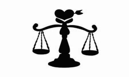 Balance of loveblack silhouette  イラスト・ベクター素材