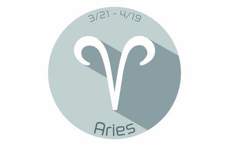 12 constellation icons: vector illustration: Aries  イラスト・ベクター素材