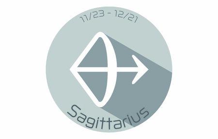 12 constellation icons: illustration: Sagittarius