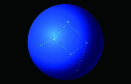 12 constellation blue icons: vector illustration: Aquarius