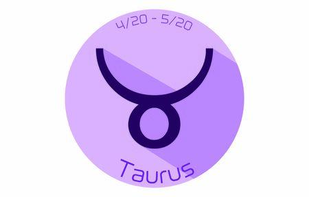 12 constellation purple icons: vector illustration: Taurus  イラスト・ベクター素材