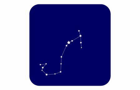 12 Zodiac Sign blue Icons: Vector Illustration: Scorpio