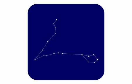 12 constellation blue icons: vector illustration: Pisces
