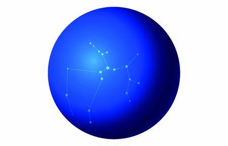 12 constellation blue icons: vector illustration: Sagittarius  イラスト・ベクター素材