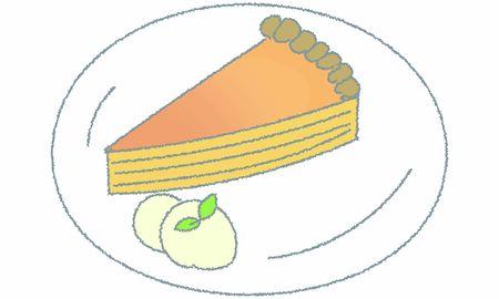 Illustration of food sweets cheese tart